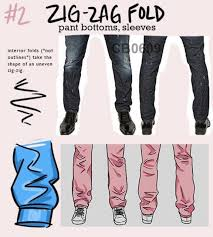 How To Draw Pants How To Draw Pants And Jeans Using The Zig Zag Fold Free