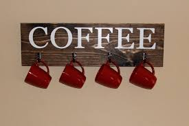 Coffee Decor For Kitchen Coffee Cup Wall Art Etsy