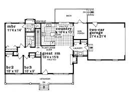 Eplans Farmhouse House Plan   One Story Country Style      Level