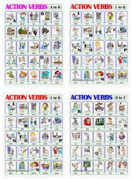 Action Verbs Awesome Download Pictionary Action Verbs A To Z Word Format