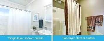 through glass shower curtain rod installing doors