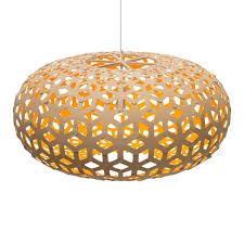 pendant light shade bamboo plywood wood lighting snowflake