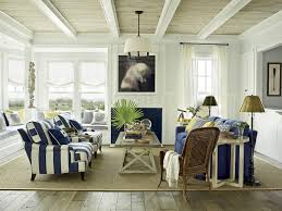 Living Room:Comfortable Blue Living Room With Natural Tropical Decoratiom  Comfortable Blue Living Room With