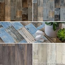 grey blue reclaimed wood plank vinyl flooring 2m 3m 4m wide x