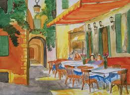 italian cafe painted in 1997