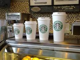 Starbucks Cup Size Chart Starbucks Cup Size Why Tall Is Small Leap Forward