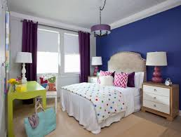 One Wall Color Bedroom Purple Accent Wall Bedroom