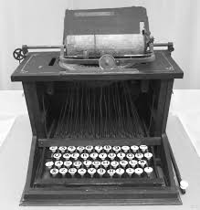 When was the fist typewriter invented