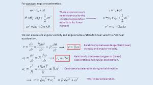 for constant angular acceleration