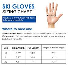 Rhino Valley Ski Gloves Winter Windproof Thermal Warm Insulated Snow Telefingers Gloves With Zipper Pocket Fit Motorcycle Skiing Skating