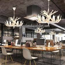chandeliers faux white antler chandelier inside decor 6 pure deer six ceiling lights intended