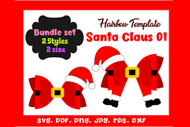 Free svg bow template to use with cricut or silhouette cutting machines! 2 Christmas Hair Bow Template Designs Graphics