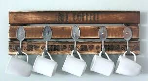 coffee cup rack wall mount coffee mug holder wall mount coffee mug holder recycled pallet coffee coffee cup rack wall
