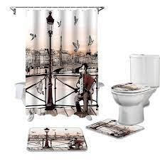 bath mat bathroom curtains