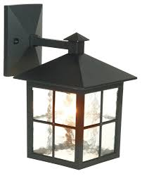 Maine Black Mains Powered External Wall Lantern | Departments | DIY at B&Q