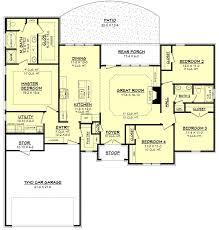 Ranch Style House Plan   4 Beds 2 Baths 1875 Sq/Ft Plan #430 87 Main Floor  Plan   Houseplans.com