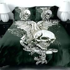 skulls comforter sets sugar skull bed