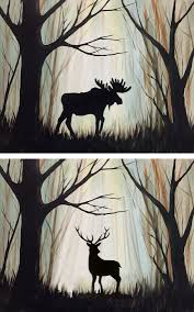 graffiti paintbar deer acrylic painting more