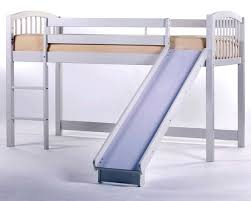 Toddler loft bed with slide