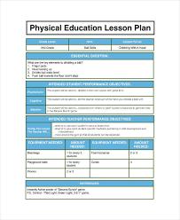 Pe Lesson Plan 7 Physical Education Lesson Plan Templates Pdf Word
