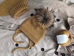 Идеальная вязаная <b>детская шапка</b>//<b>шапка</b> с ушками и завязками ...