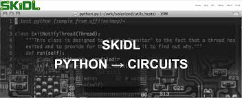 skidl use python to describe electrical connections export skidl is a module that allows you to compactly describe the interconnection of electronic circuits and components using python the resulting python program