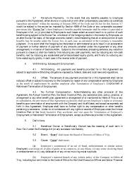 Employee agreement specifies terms and conditions of employment of an employee in the organisation he is or will be working for. Severance Agreement With Brian L Grass Dated June 17 2019 Helen Of Troy Limited Business Contracts Justia