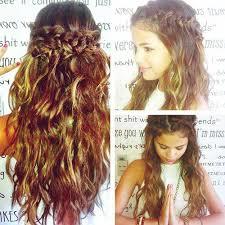 braided curly long hair cut