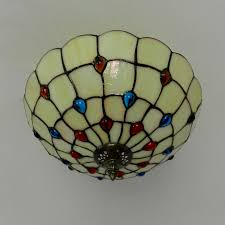 style baroque pendant lamp e27 bulb stained glass lamp shade hanging light lighting fixuture for hallway bedroom pl497 in pendant lights from lights