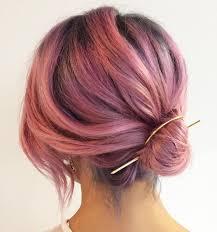 diy low knot updo pastel pink hair