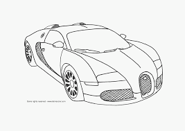 Bugatti Veyron Supercar Coloring Page Letmecolorcom Awesome