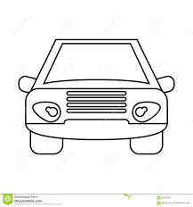 car outline front. Plain Car Download Car Vehicle Transport Front View Outline Stock Vector   Illustration Of Automobile Condition In E