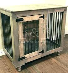 dog crate furniture coffee table kennel in diy indoor ideas 14