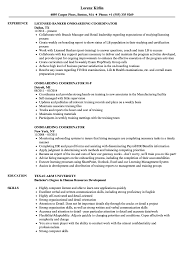 Onboarding Coordinator Resume Samples Velvet Jobs