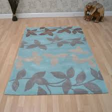 duck egg blue and cream rug