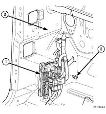 2009 chrysler aspen limited reverse interior diagram the hood an electrical junction block jb 1 is concealed behind the left outboard end of the instrument panel cover