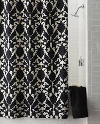 black and white shower curtains. Silhouette Floral Shower Curtain - Neiman Marcus Black And White Curtains