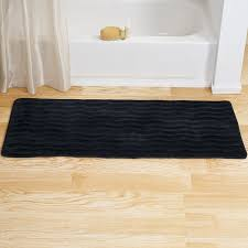 bathroom com lavish home memory foam extra long bath rug mat black magnificent bathroom com