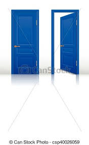 open and closed door clipart. House Door Clipart Vector Of Open And Closed Set - Blue Room