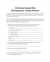 Four Year College Plan Template Individual Business Plan Template Personal Sample Development Within
