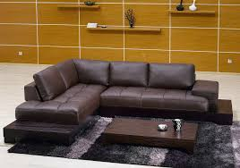 modern sofas for sale. Modern Brown Leather Sectional Sofa - S3NET Sofas Sale . For