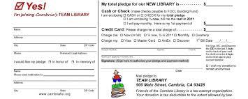 011 Pledge Template Fundraising Card Free Donation Form Ulyssesroom