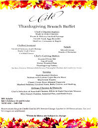 Thanksgiving Brunch Menu Cité Downtown Chicago Restaurants Cité