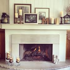 easy living room fireplace mantel decorating ideas using flameless led battery operated candles tea