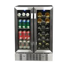 newair 18 bottle stainless steel and black dual zone cooling wine chiller