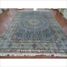 oriental 100 handmade qum silk rug hand knotted carpet 10x14 large area rugs red 240l 400kpsi double knots traditional persian style chinese manufacturer
