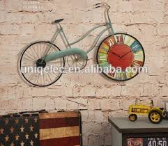 large art design metal bicycle wall clock on wall clock art design with large art design metal bicycle wall clock buy large decorative