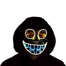 Trippy Outdoor Lights Amazon Com Trippy Lights Led Light Up Halloween Mask