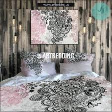 rose gold sheet set bedding pink and black bedding rose gold metallic foil effect bedding set
