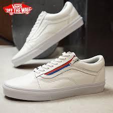 vans vans sneakers men old skool zip leather old school zip leather true white vn0a3493ou9